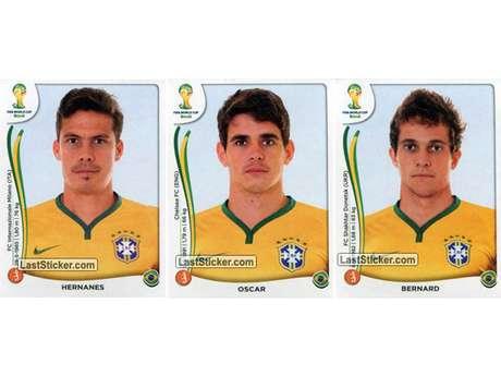 Hernanes, Oscar e Bernard Foto: Last Sticker / Reprodução