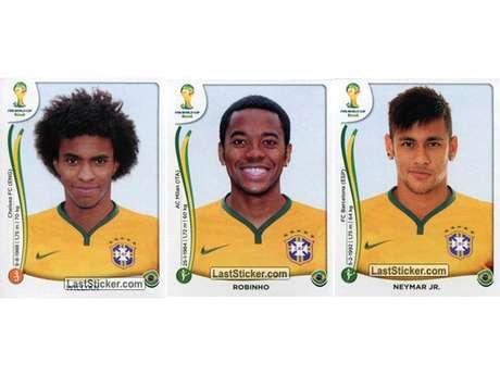 Willian, Robinho e Neymar Foto: Last Sticker / Reprodução