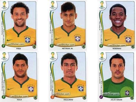 Brasil conta com Neymar, Fred e Robinho no álbum da Copa do Mundo Foto: Last Sticker / Reprodução