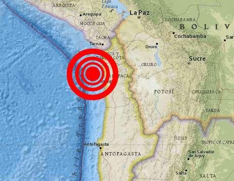<p>El epicentro del terremoto de 8.2 grados Richter.</p>