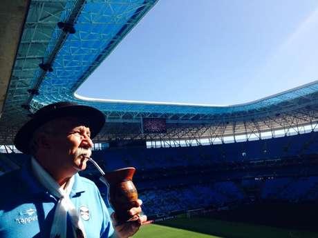 Gremista, gaúcho quer que, após sua morte, suas cinzas sejam jogadas parte na Arena do Grêmio, parte em um jogo da Seleção Foto: Arquivo Pessoal