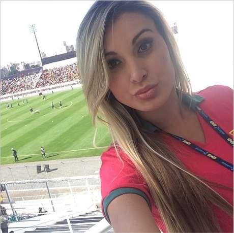 <p>Andressa Urach não conseguiu reencontrar Cristiano Ronaldo</p>