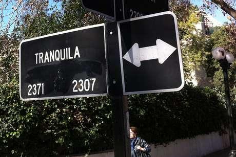 <p>Calle Tranquila, comuna de Providencia.</p>