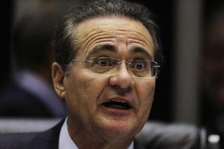 Renan Calheiros (PMDB-AL) teve 49 votos contra 31 de Luiz Henrique (PMDB-SC) - eleição teve 1 voto nulo Foto: Ueslei Marcelino / Reuters