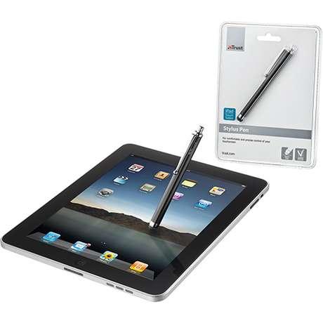 Caneta Stylus, da Trust, é uma opção para evitar marcas de dedos no ecrã do tablet Foto: Reprodução