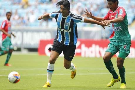 Marcelo Moreno foi um dos estreantes do dia Foto: Lucas Uebel / Grêmio FBPA