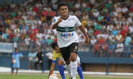 Jovem promessa do Coritiba, Rafhael Lucas estreou com dois gols Foto: Coritiba / Divulgação