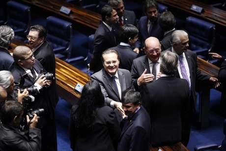 Renan ocupa a presidência desde 2013 e elegeu-se com o apoio da bancada do PT Foto: PMDB Nacional / Divulgação