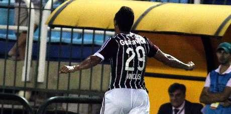 Vinícius marcou o primeiro gol do time tricolor na partida Foto: Nelson Perez/Fluminense / Divulgação