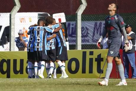 Grêmio abriu o placar no primeiro tempo Foto: Lucas Uebel / Grêmio FBPA / Divulgação