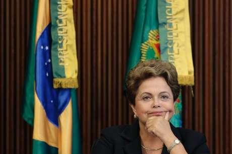 Presidente Dilma Rousseff durante reunião do Conselho Nacional da Indústria no Palácio do Planalto. 9/2/2015 Foto: Ueslei Marcelino / Reuters