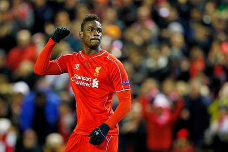 Balotelli fez de pênalti o gol da vitória do Liverpool Foto: Julian Finney / Getty Images