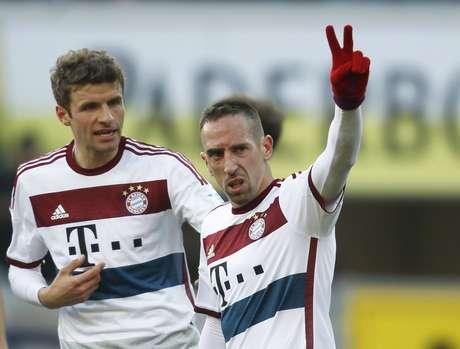 Bayern de Muller e Ribery conquistou mais uma vitória no Alemão Foto: Ina Fassbender / Reuters