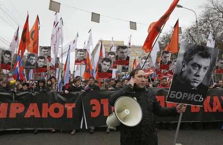 A manifestação reuniu cerca de 10 mil pessoas Foto: Reuters / Reuters