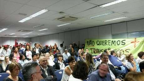 Manifestantes acupam escritório doCTNBio, em Brasília Foto: MST / Divulgação