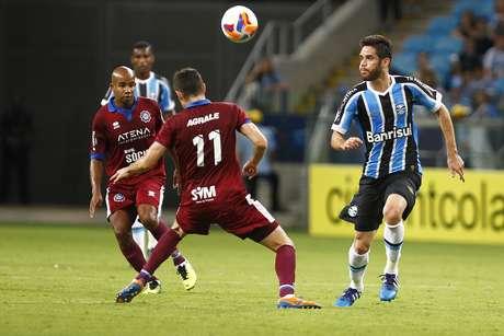 Marcelo Oliveira foi uma das principais figuras do Grêmio no jogo Foto: Lucas Uebel / Grêmio FBPA/Divulgação