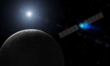 Técnicos da agência espacial acompanharam de perto a viagem de Dawn do Laboratório de Propulsão a Jato (JPL) em Pasadena (Califórnia) Foto: The Guardian / Reprodução