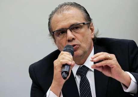 Ex-gerente executivo da diretoria de Serviços da Petrobras Pedro Barusco durante testemunho em Brasília.   10/03/2015 Foto: Ueslei Marcelino / Reuters