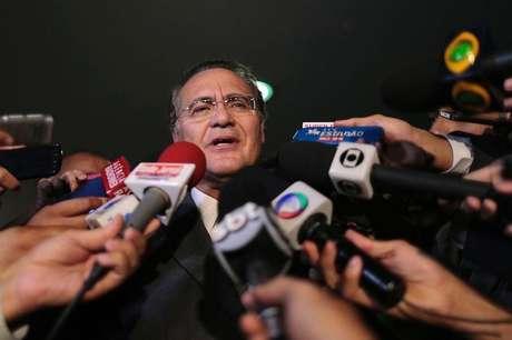 """""""Do ponto de vista da aliança, não se resolveu nada, disse Renan sobre relação com Planalto Foto: Ueslei Marcelino / Reuters"""