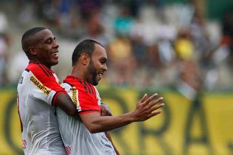Alecsandro abriu o placar para o Flamengo Foto: Luciano Belford / Agência Eleven / Gazeta Press