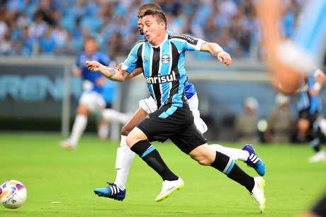 Cristian Rodríguez estreou pelo Grêmio neste sábado Foto: Vinicius Costa / Futura Press
