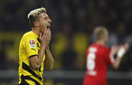 Kampl lamenta chance desperdiçada pelo Borussia Dortmund contra o Colônia Foto: Ina Fassbender / Reuters