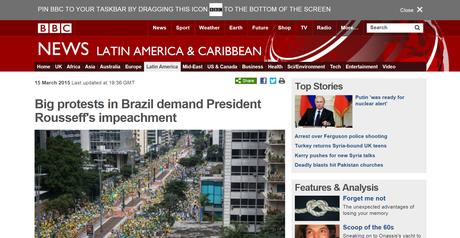 Os protestos deste domingo ganharam destaque em grandes sites da imprensa internacional Foto: Divulgação