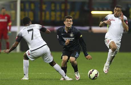 Inter não teve bom desempenho neste domingo Foto: Marco Luzzani / Getty Images