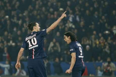 Ibrahimovic marcou três vezes na vitória do PSG Foto: Gonzalo Fuentes / Reuters