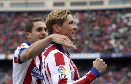 Fernando Torres abriu o placar para o Atlético de Madrid Foto: Victor Lerena / EFE