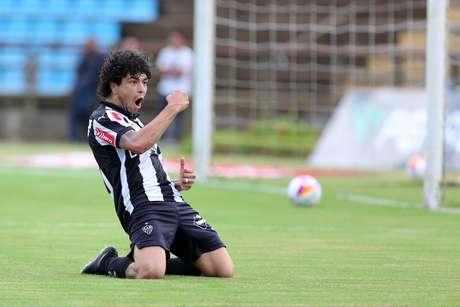 Luan abriu e fechou o placar para o Atlético-MG Foto: Cristiano Mattos / Futura Press