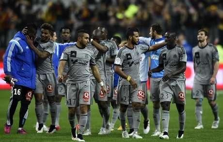 Time de Marselha fez 4 a 0 e segue na caça ao Paris Saint-Germain Foto: Franck Fife / AFP
