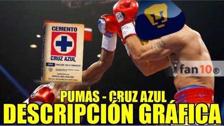 Pumas no se salva de los memes tras perder con Cruz Azul