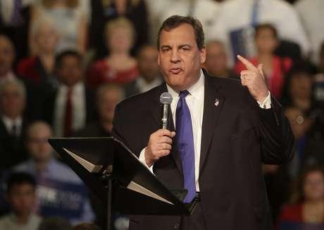 El gobernador republicano de Nueva Jersey Chris Christie anuncia su candidatura a la presidencial estadounidense del 2016, este martes 30 de junio del 2015.