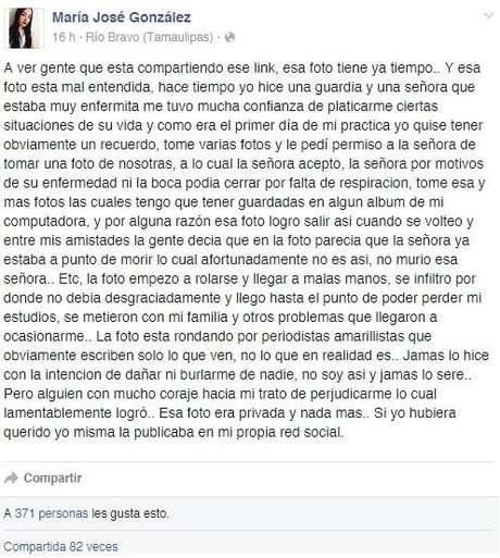 González dio una explicación de su fotografía.
