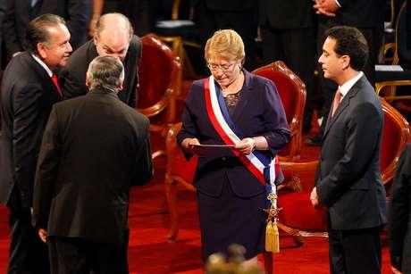 Michelle Bachelet en el Te Deum Evangélico.