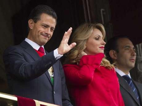 El presidente estuvo acompañado de su esposa, Angélica Rivera, y los representantes de los poderes Judicial y Legislativo.