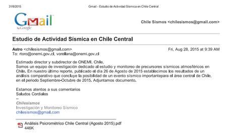 Mail enviado por Chilesismos a Onemi, el 26 de agosto.