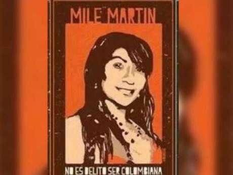 Un cartel en apoyo a la colombiana, asesinada  el 31 de julio de 2015 en la Colonia Narvarte,  Ciudad de México.