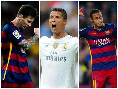 Messi, Cristiano Ronaldo e Neymar, que já brigam pelo prêmio da Bola de Ouro, também disputam o posto de maiores salários do futebol espanhol