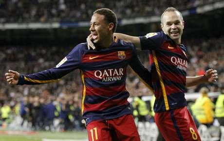 Neymar fez mais uma boa partida e deixou o dele no Bernabéu