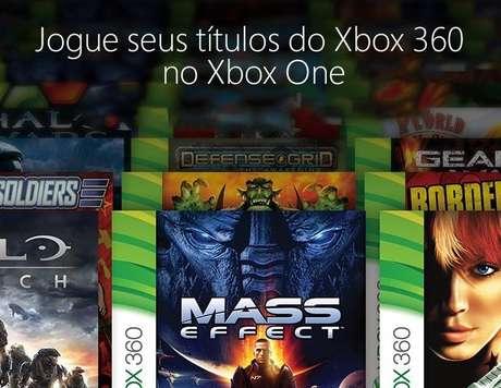 Os jogos compatíveis do Xbox 360 são baixados no HD do Xbox One