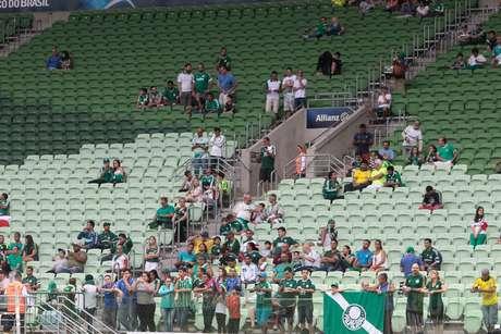 Com todas as atenções voltadas para a final da Copa do Brasil na próxima quarta-feira (2), o Allianz Parque recebeu seu menor público desde a inauguração