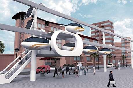 O SkyTran terá projeto piloto em Tel-Aviv até o final de 2016