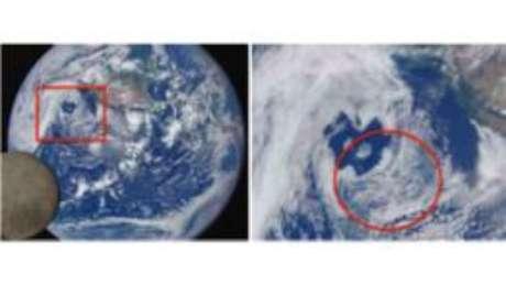 As nuvens produzidas por navios no Pacífico podem ser vistas a um milhão de milhas de distância