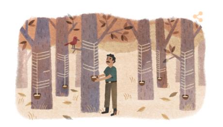 Doodle homenageia Chico Mendes, que completaria 71 anos nesta terça-feira, 15 de dezembro