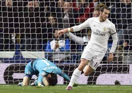 Bale marcou um gol na goleada do Real por 5 a 1