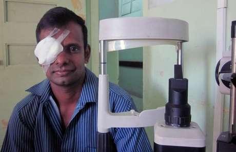 Malingam se recuperou do transplante em um hospital de Colombo (Foto: BBC)