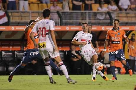 Callei mostrou muita raça no comando do ataque do São Paulo