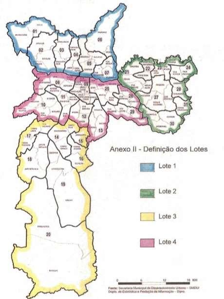 De acordo com o edital, a inspeção na cidade será feita em quatro blocos, por empresas diferentes Foto: Divulgação